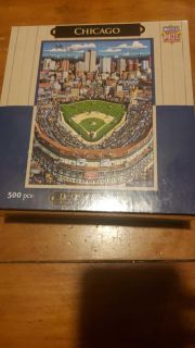 """Chicago Cubs gift puzzle sealed 15"""" by 21"""""""