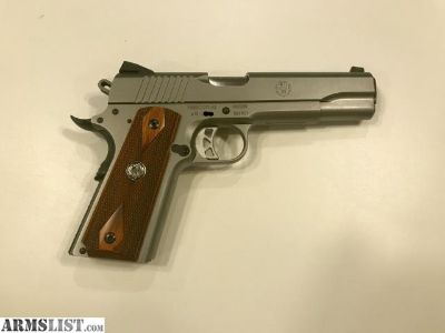 For Sale: Ruger SR1911 45acp stainless - like new!