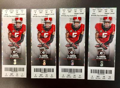 UGA vs. TENNESSEE football tickets for Sept. 29