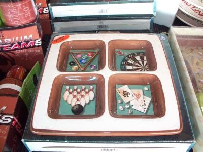 Multi sport ceramic 4 section tray FESTIVE New