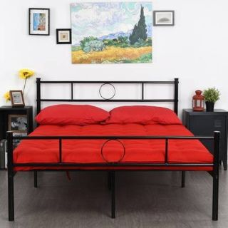 Full Size Platform Bed Frame With Headboard and Footboard - New!