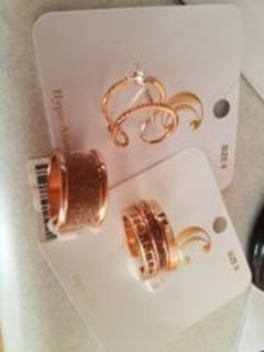 Rose gold rings size 9
