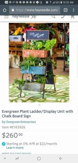Brand new Ladder Plant Display Rack and Chalkboard sign - great for stores or restaurants.