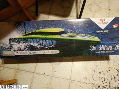 """For Trade: 26"""" shockwave pro boat"""