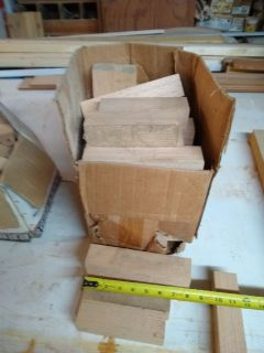 1 3/4 oak craft wood blocks