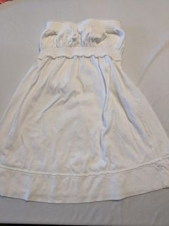 Soft white dress. Cute with jean jacket or swimming. 4t