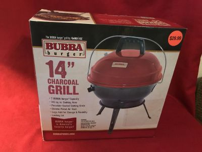 Bubba Burger 14 Charcoal Grill. New in Box