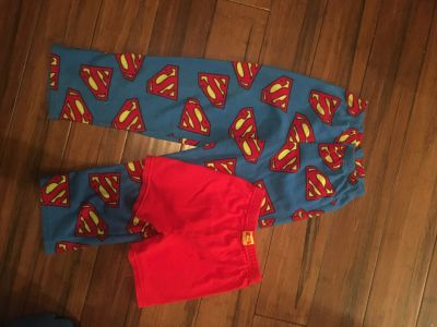 Superman Sleep Pants and Shorts Boy s 10