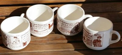 4 Sears, Roebuck & Co. collectible cups