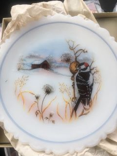 Hand painted Fenton Plate