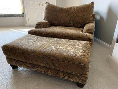 Like new Oversized Chair and Ottoman