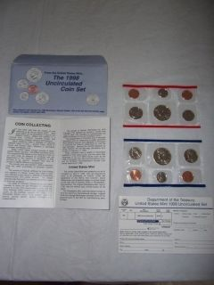 1998 Mint, Uncirculated Coin Set