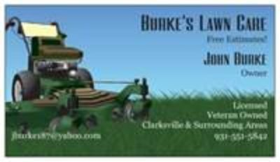 Burke's Lawn Care: Aeration, Seeding, Leaf clean up, Mulch,& More-...