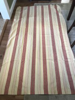 Pottery Barn Tan/Burnt Red Curtains 4 Panels