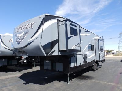 2019 Genesis Supreme VORTEX 3317V, 2 SLIDES, 2 A/C'S, ONAN 5500, 160 WATT SOLAR PANEL, ARCTIC PACKAGE, RAMP DOOR CABLES, 3 TV'S, CENTRAL VACUUM