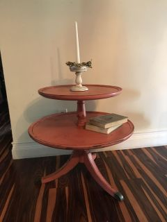 Vintage pie table refinished