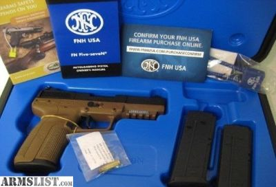 For Sale: FN FIVE SEVEN 5.7 FDE NEW IN BOX W/900rds & 5 Mags