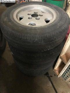 4 VW Vanagon alloy wheels