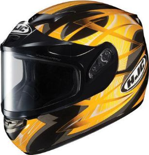 Buy HJC CS-R2 Large Storm Yellow Dual Lens Snowmobile Snow Sled CSR2 Helmet Lg Lrg L motorcycle in Ashton, Illinois, US, for US $107.99
