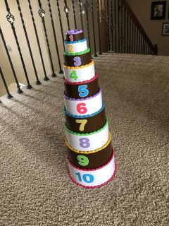 Birthday cake stackable layers