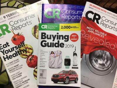 3 Consumer Reports Magazines & 1 Buying Guide 2019