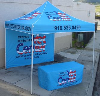 Advertising Vendor Tents & Custom Table Covers