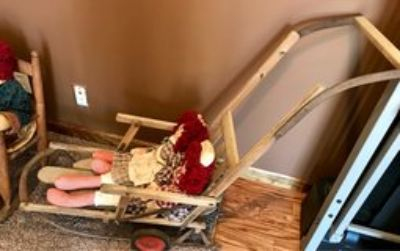 VERY OLD ANTIQUE CHILD S SLED/BUGGY