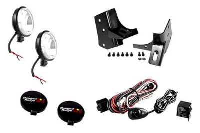 Purchase Rugged Ridge 12496.04 - Black Windshield Fog Light Kit w Mounts motorcycle in Suwanee, Georgia, US, for US $132.34