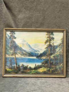 Vintage Water Color in Frame