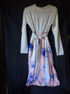 Floral striped dress