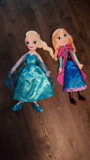 Frozen plush dolls they are about 20 inch tall