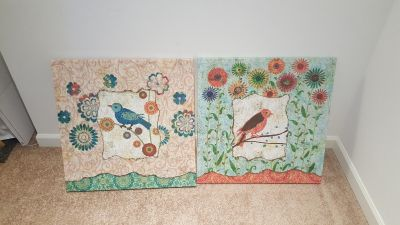 Canvas paintings from Pier 1 imports