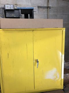Fireproof paint cabinet
