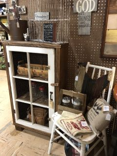 Rustic Window Cabinet