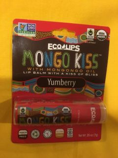 ECO LIPS non-GMO MONGO KISS Mongongo oil lip balm.