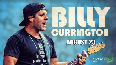 (1-4) BILLY CURRINGTON Floor Concert Tix - Thurs, Aug. 23 - Cheap!