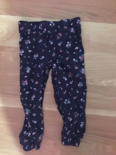 Cute summer flower pants by Carter s. Like new.
