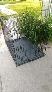 Large dog crate, double latch $25