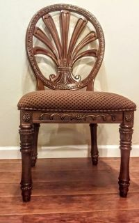 """4 Matching Chairs Sold With 50"""" Beveled Glass Topped, Pedestal,Dining Table"""