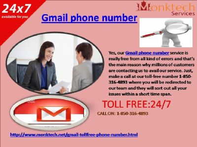 Of course, quick, and compelling help by means of Gmail Phone Number 1-850-316-4893 ?