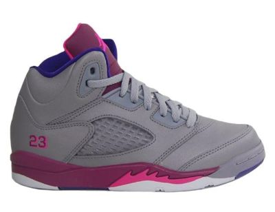 Beautiful Nike Retro V Cement GreyPink FoilRaspberry Red Basketball