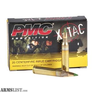 For Sale: 180 rounds XTAC 5.56 GREENTIP under .30cpr!