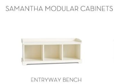 "PAIR of Pottery Barn ""Samantha"" storage benches-used"