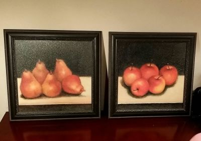 Just A Beautiful Set Of Fruit Picture Frames.