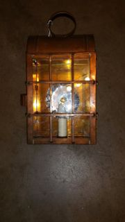 Hand Crafted Copper Lantern wall Mounting type.