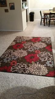 Floral 5x7 area rug