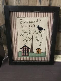 14x12 house and bird picture