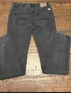Girls Black Factory Distressed Lucky Brand Jeans-- Size 14