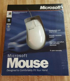 VINTAGE Microsoft Mouse for Windows 3.1 or Windows 95 NIB