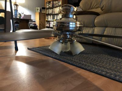 HUNTER 52 BRUSHED NICKEL CEILING FAN PRICED TO MOVE FAST